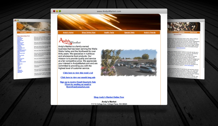 Website Andy's Market