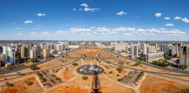 View of Brasília from the observation platform on the TV Tower.